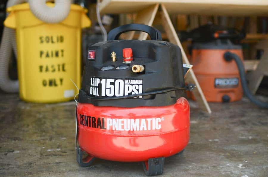 air compressor red
