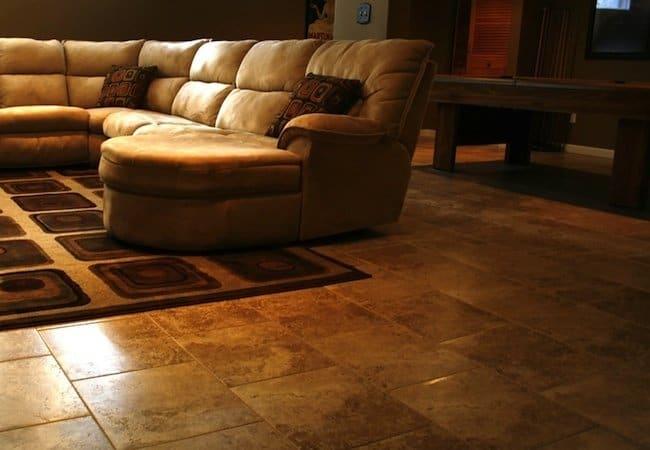 Basement FLooring Glue Down Tile