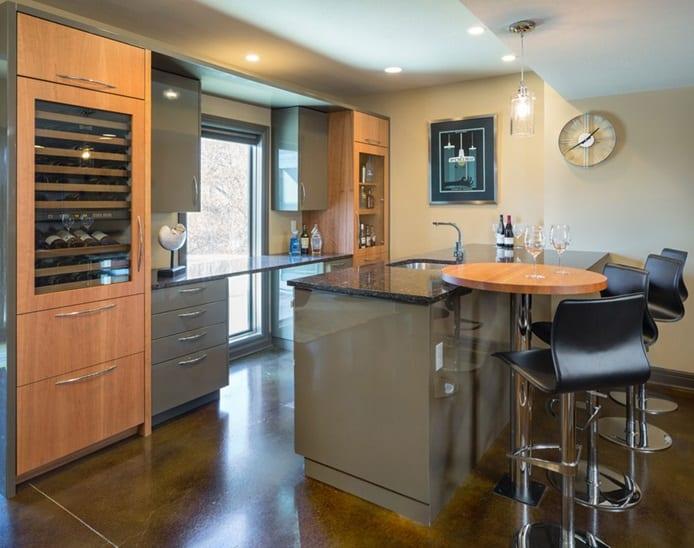 Basement Kitchen Bar Space