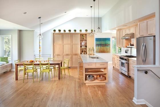 Basement kitchen decoration
