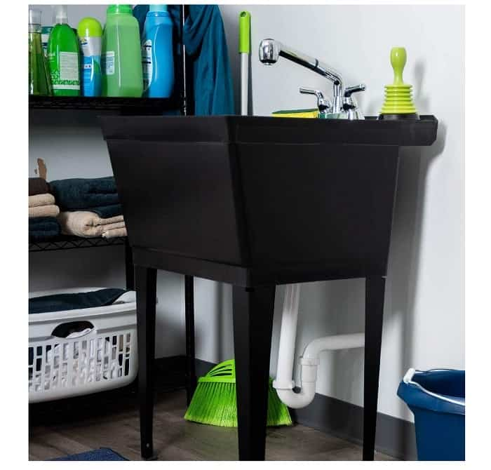 Garage Black Utility Tub