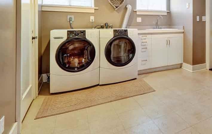 Ceramic Tile Laundry ROom