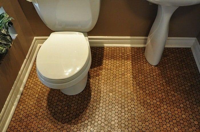 Cork Floor Tile Bathroom