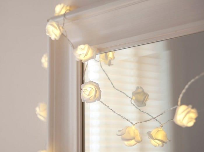 Echosari White Rose Fairy Lights