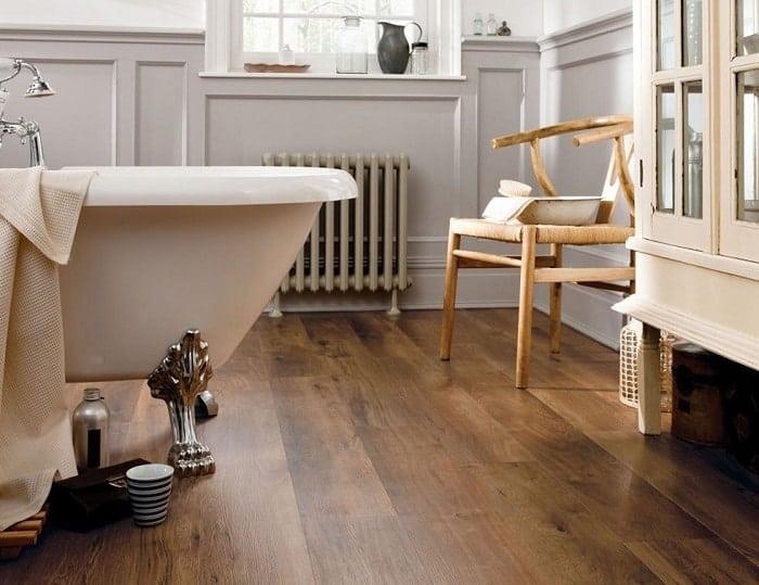 Engineered Hardwood Tile Bathroom