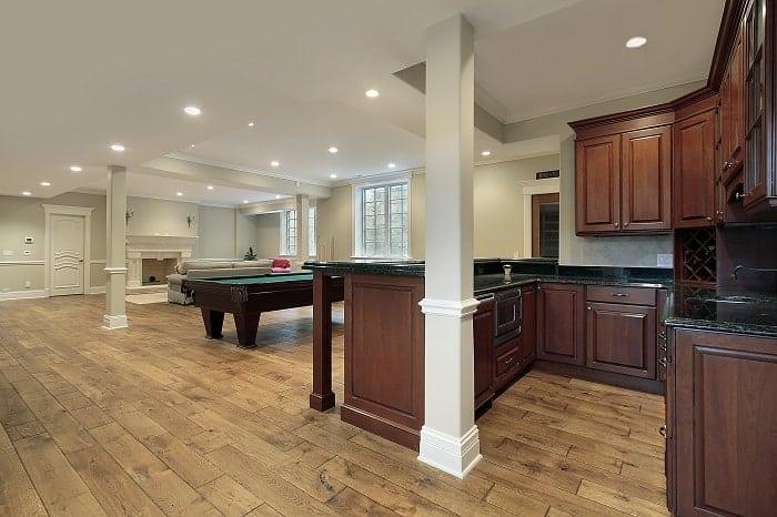 Engineered Wood Tiles Basement