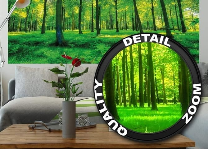 GREAT ART Wallpaper Trees Forest