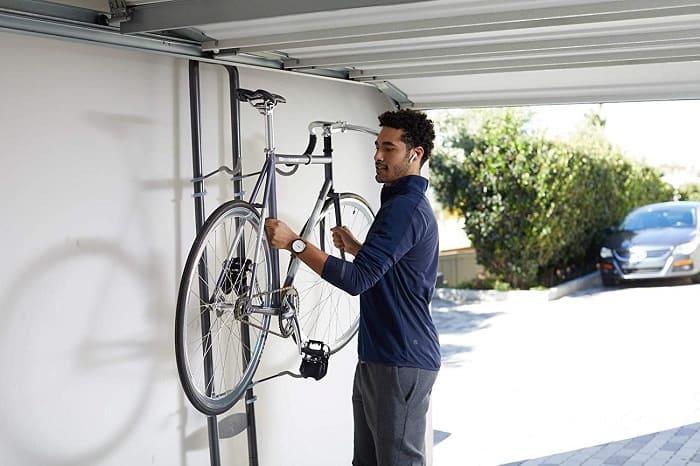 garage improvement ideas bike stand