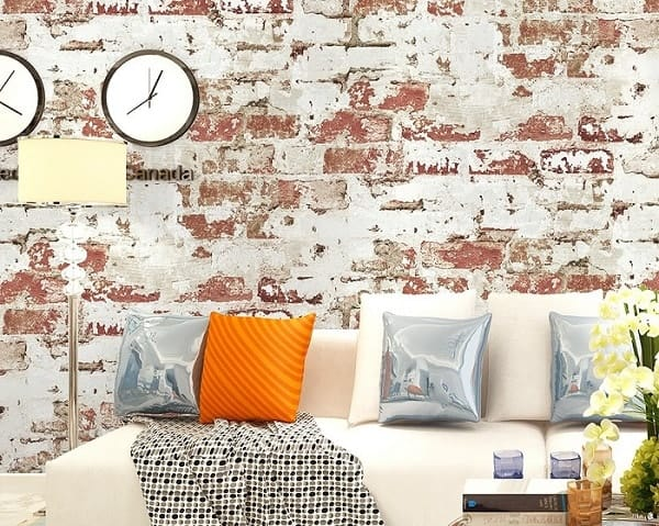 Hoakhome Distressed Brick Wallpaper