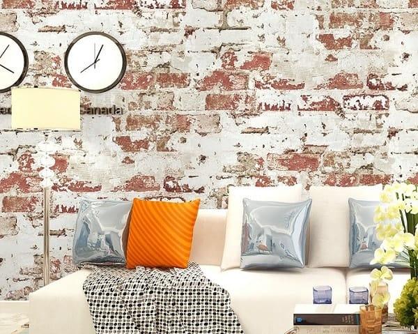 Hoakhome Distressed Brick Wallpaper