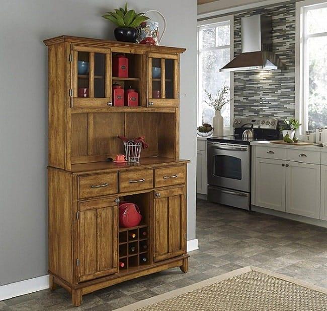 Home Styles Cottage Oak Buffet Hutch