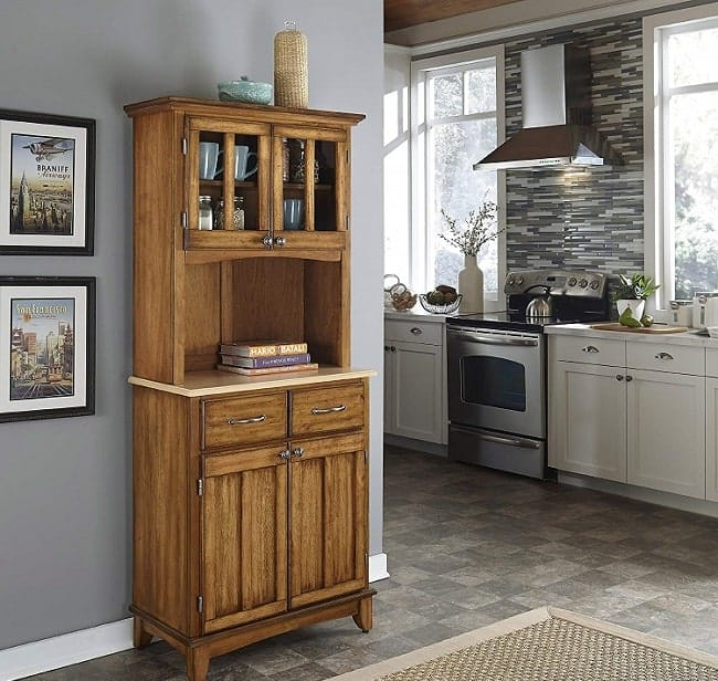 Home Styles Craftsman Style Kitchen Hutche