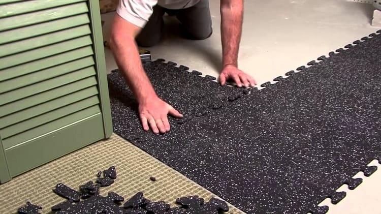 Interlocking Rubber Tile Floors