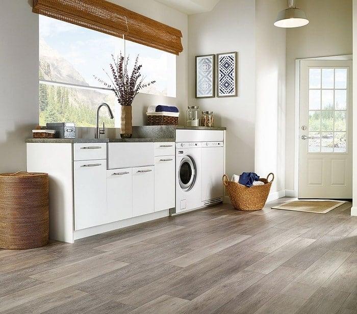 Laminate Floor Tile Laundry Room