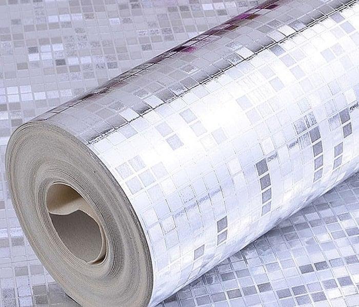 Luxury Silver Foil Wallpaper