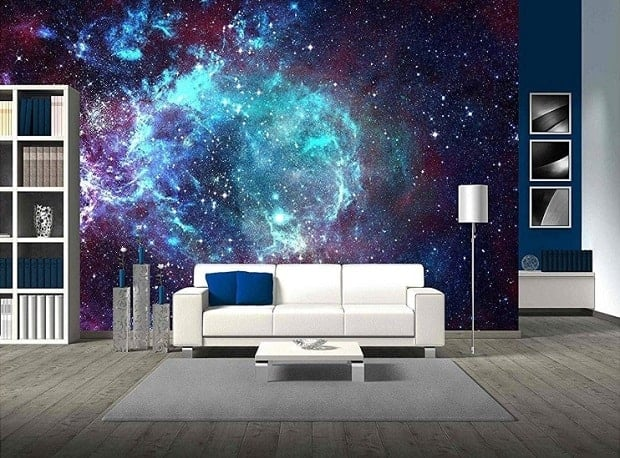 Star Field in Space Mural