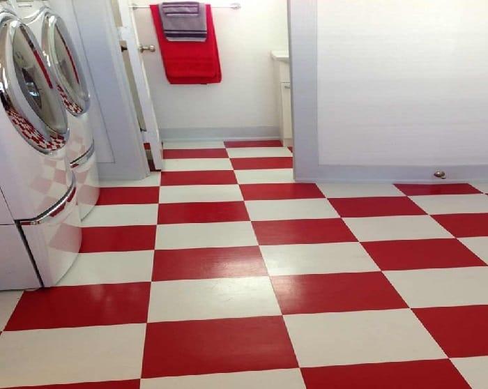 Vinyl laundry floor