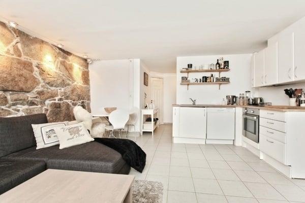 White Basement Kitchen