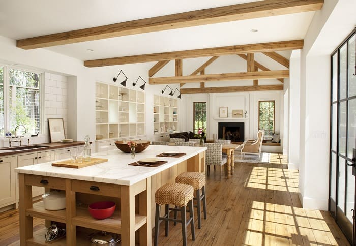 budget friendly organic farmhouse kitchen