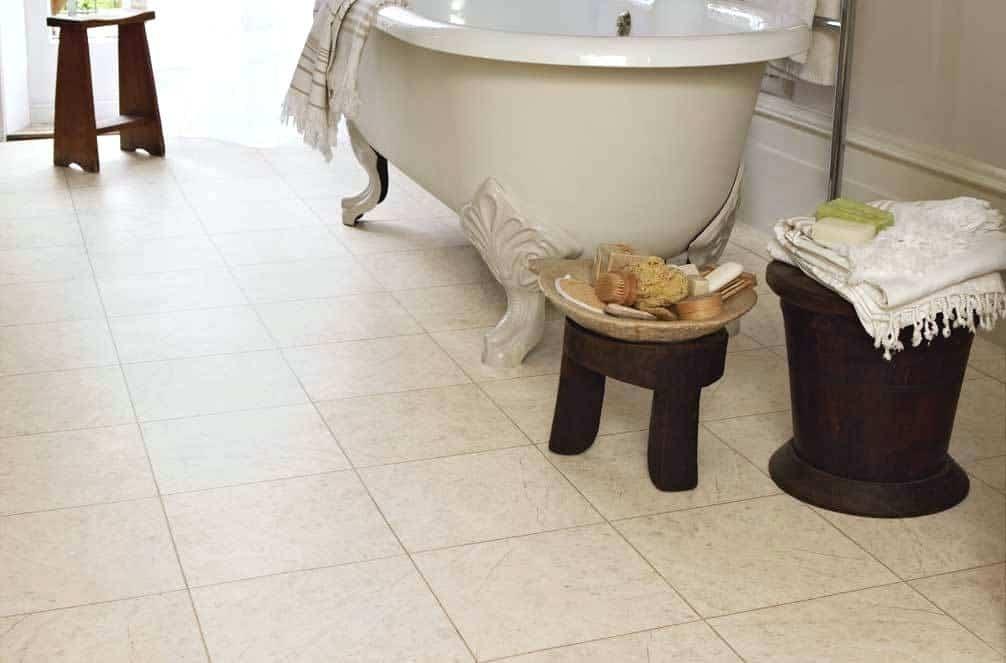 luxury vinyl tiles bathroom