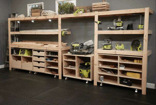 Open Shelving tool storage