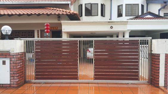 Wrought Iron Driveway Gate Design Ideas 10-min