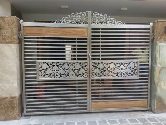 Wrought Iron Driveway Gate Design Ideas 11-min