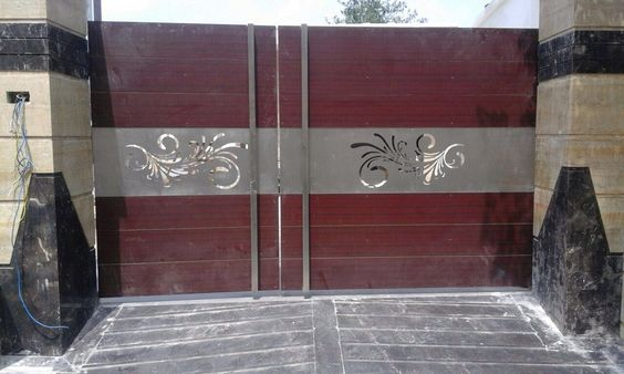 Wrought Iron Driveway Gate Design Ideas 12-min