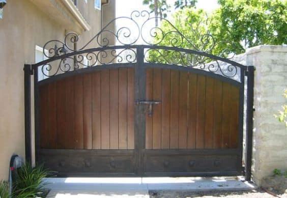Wrought Iron Driveway Gate Design Ideas 15-min