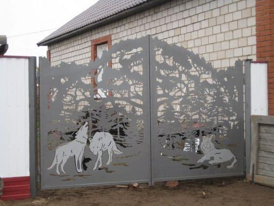 Wrought Iron Driveway Gate Design Ideas 20-min