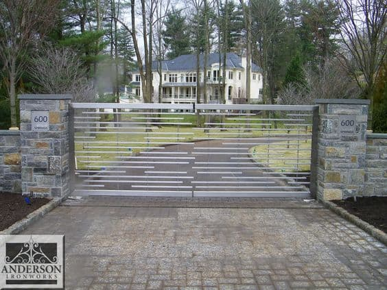 Wrought Iron Driveway Gate Design Ideas 21-min