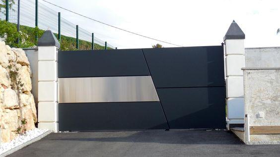 Wrought Iron Driveway Gate Design Ideas 8-min
