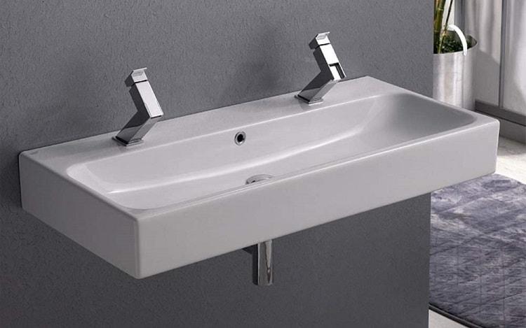 Double faucets boy bathroom