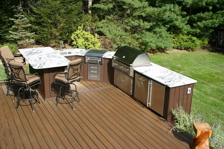 Outdoor Deck Kitchen