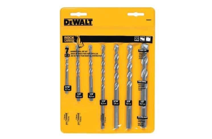 dewalt masonry drill bit set