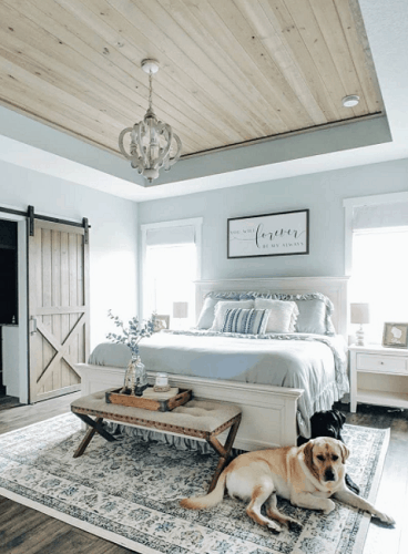 Wooden Bedroom Ceiling Tray