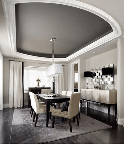 Dining ceiling tray ideas