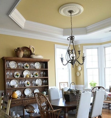 Rustic inspired ceiling tray