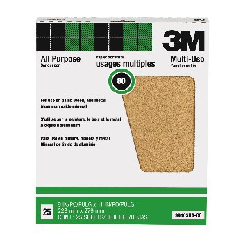 3M 80 Grit Sandpaper   HardwareWorld