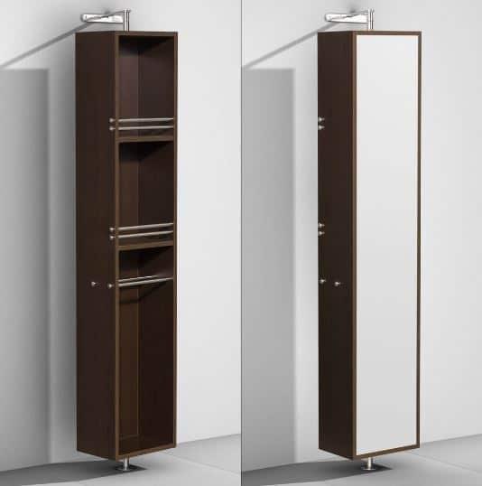 Amare Rotating Floor Cabinet with Mirror   ModernBathroom