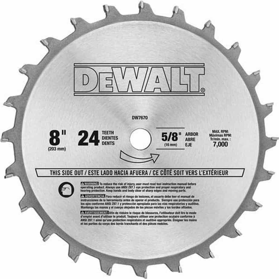 DEWALT DW7670 Dado Blade Set | Zoro.com