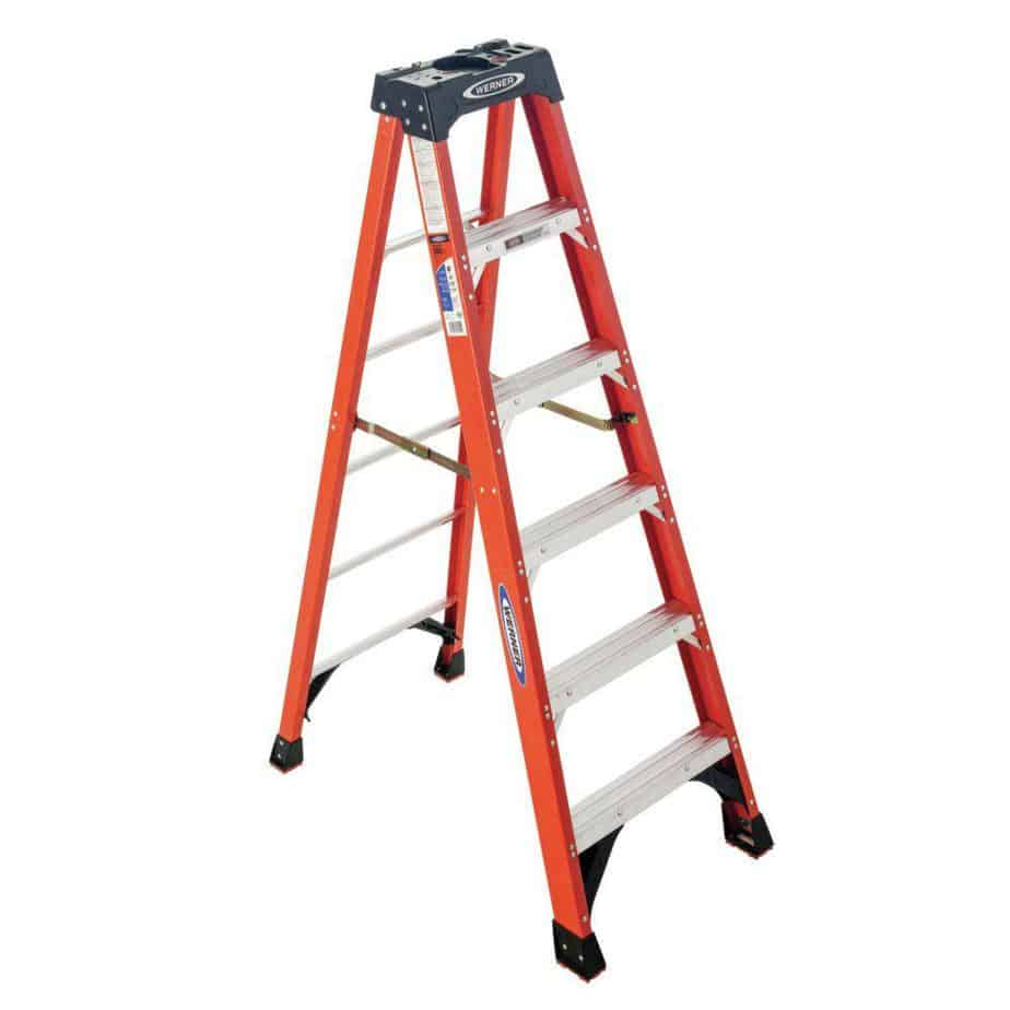 Werner 6 ft. Fiberglass Step Ladder ( 10 ft. Reach Height) with 300 lb. Load Capacity Type IA Duty Rating-NXT1A06 - The Home Depot