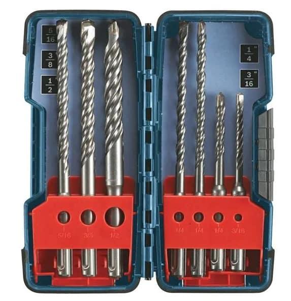 . Bosch 7 Piece Carbide Tip SDS