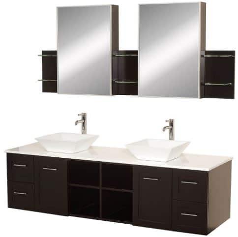 Amare Bathroom Vanity Set with Vessel Sink   ModernBathroom