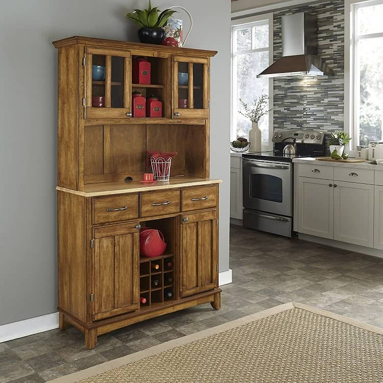Home Styles Cottage Oak Buffet And Hutch