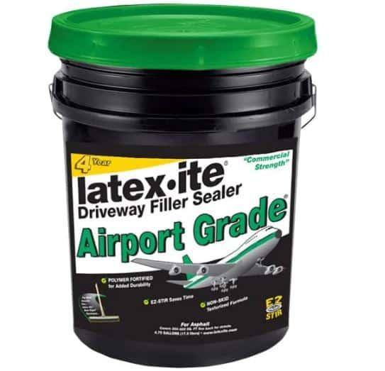 Latex-ite 4.75 Gal. Airport Grade Asphalt Driveway Filler Sealer   Home Depot