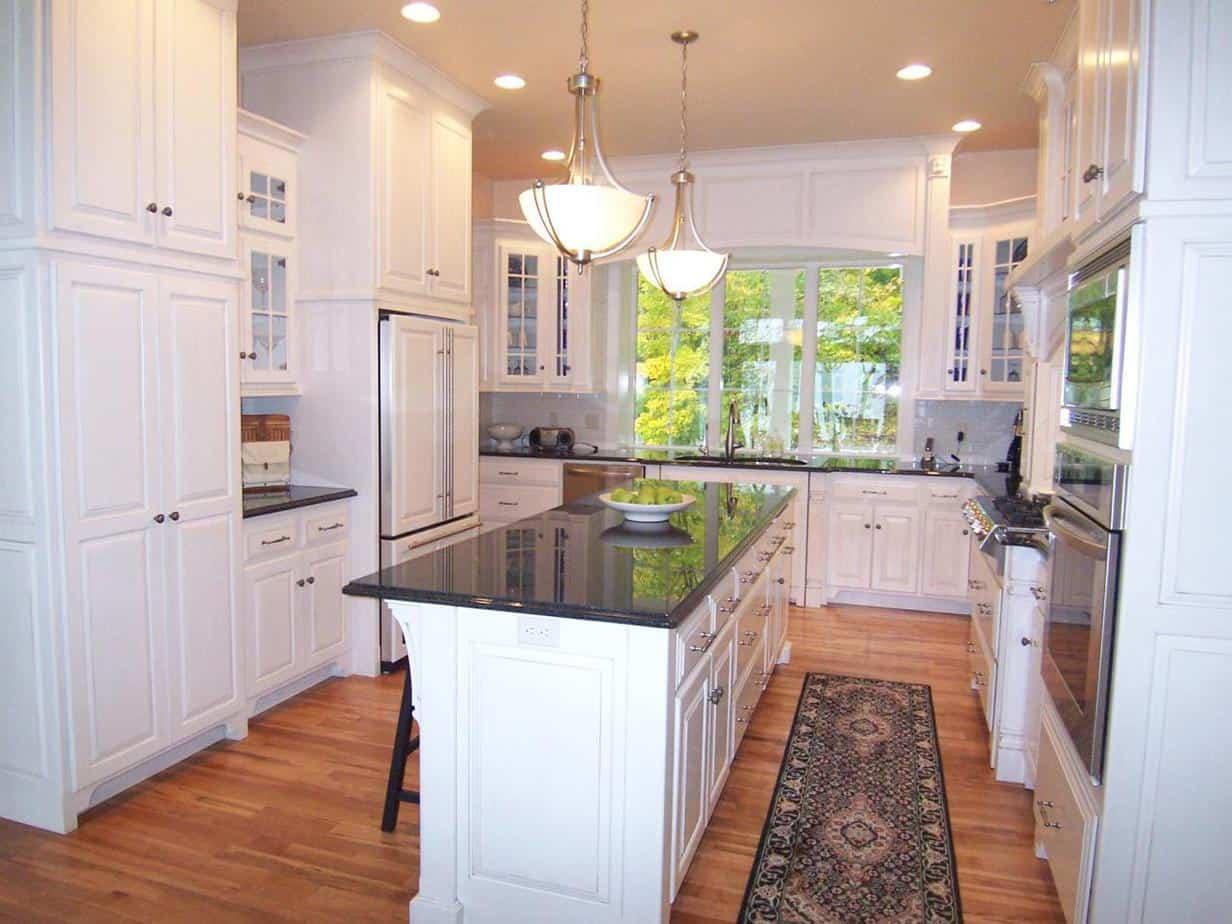 u shaped kitchen island