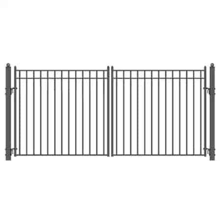 Aleko Madrid Style Dual Swing Steel Driveway Gate   Zoro.com