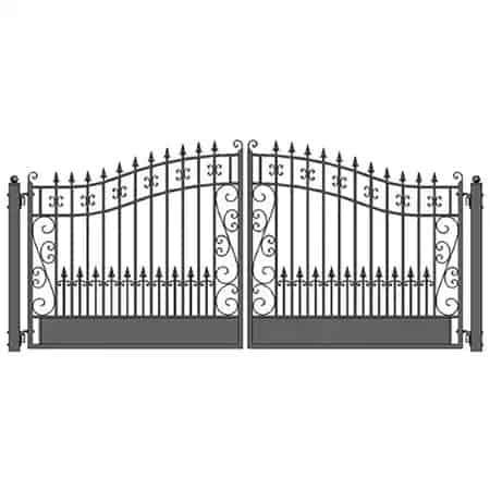 Aleko Venice Style Iron Dual Swing Driveway Gate   Zoro.com