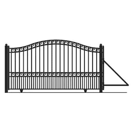 Aleko Paris Style Single Slide Steel Driveway Gate   Zoro.com